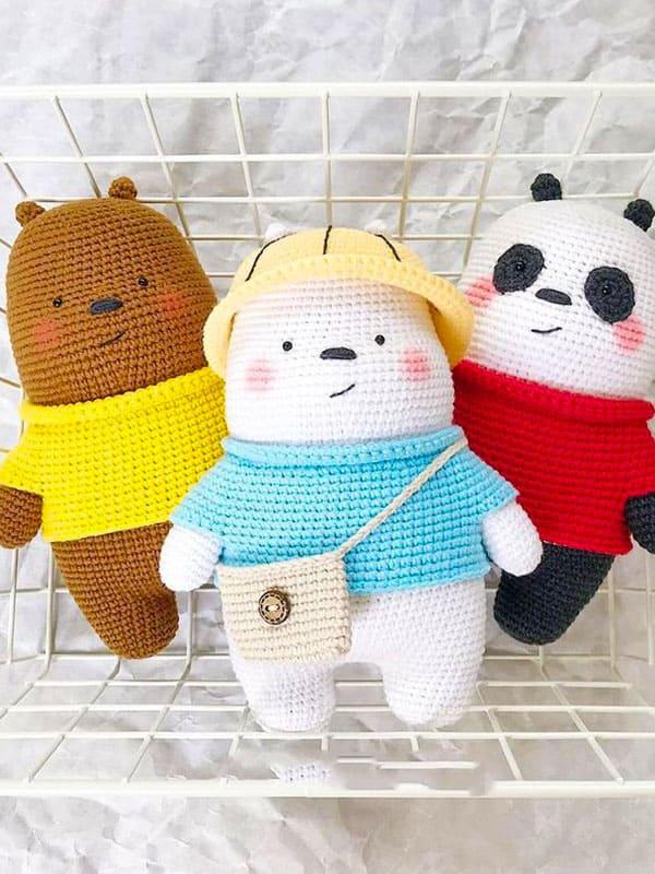 Brown & Ice Bear Amigurumi Crochet Pattern