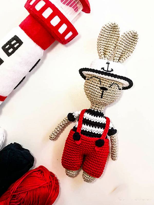Bunny Captain Amigurumi Crochet Pattern
