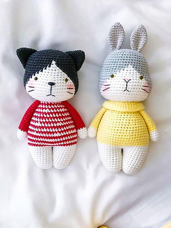 Cat And Bunny Amigurumi Crochet Pattern