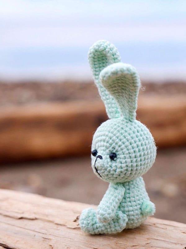 cute, keychain, bunny, head, eyes, tail