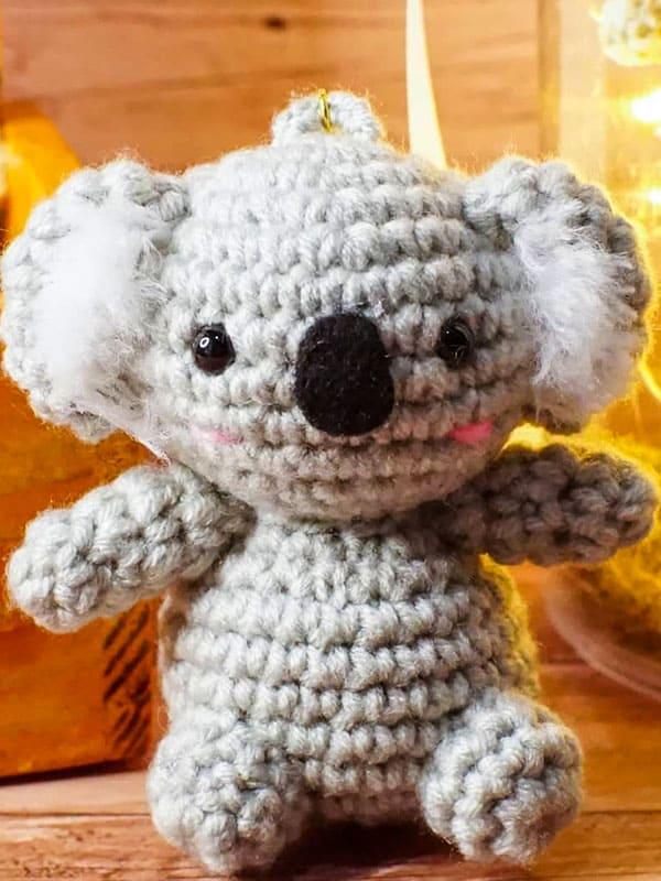 Koala Keychain Crochet Amigurumi Pattern