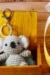 koala, keychain, ear