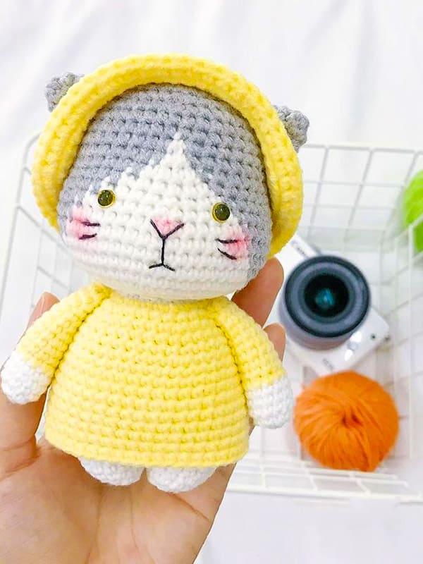 Little Miki Cat Amigurumi Crochet Pattern
