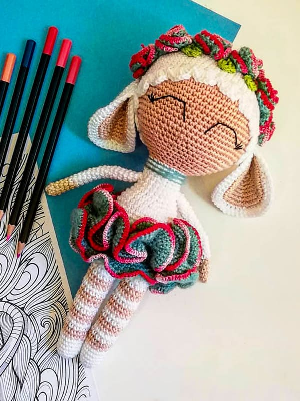 Sophie the Sheep Amigurumi Crochet Pattern