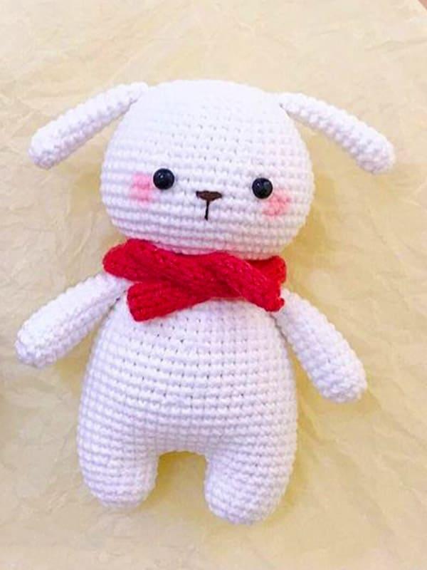Snow Bunny Amigurumi Crochet Pattern