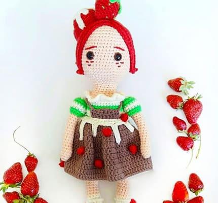 Strawberry Fairy Muig Amigurumi Crochet Pattern