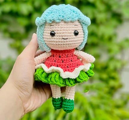 Susu The Watermelon Amigurumi Crochet Pattern