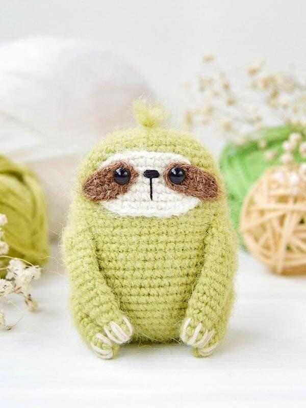 little sloth amigurumi pattern, sloth amigurumi crochet pattern