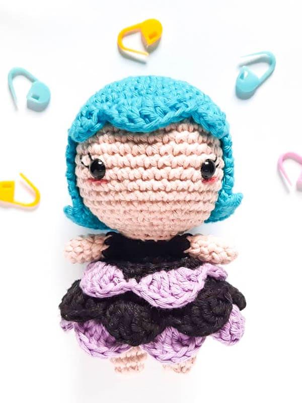 witch amigurumi crochet pattern, witch amigurumi pattern, witch amigurumi toy