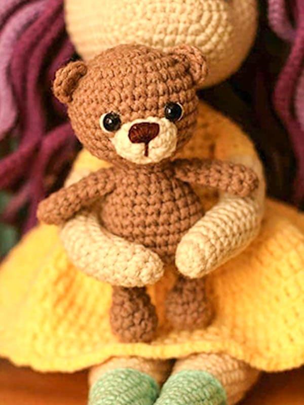 bear amigurumi free pattern, mini bear amigurumi crochet pattern, bear amigurumi