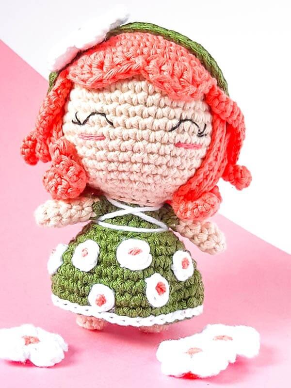 crochet elf amigurumi pattern , crochet elf pattern, daisy elf amigurumi crochet pattern