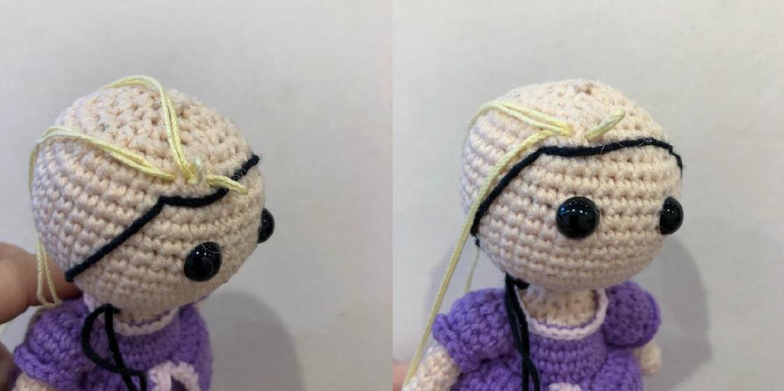 Rapunzel Doll Amigurumi Crochet Pattern