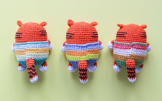 Tiger Keychain Amigurumi Crochet Pattern