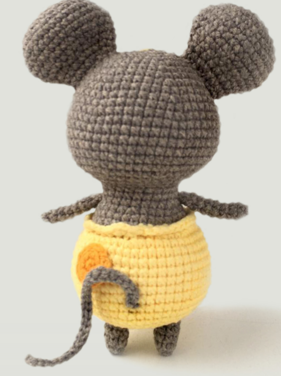 Mouse In Cheese Pants Amigurumi Crochet Pattern