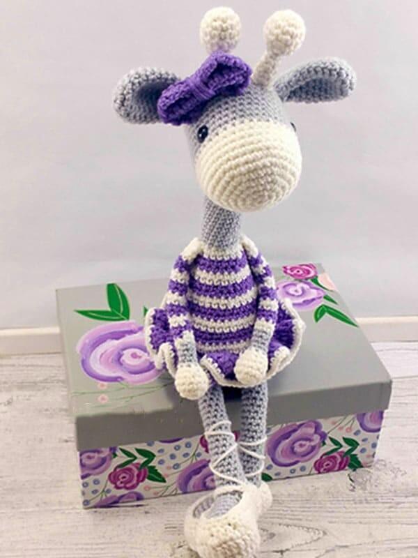 ballerina, giraffe, amigurumi, crochet, pattern, christmas, baby, baby shower, gift, noel, body