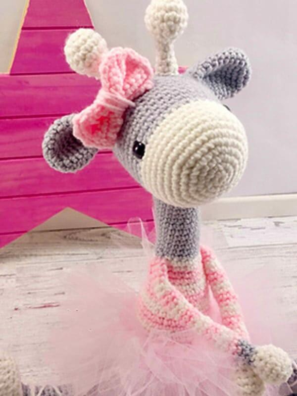 ballerina, giraffe, amigurumi, crochet, pattern, christmas, baby, baby shower, gift, noel, head, eyes