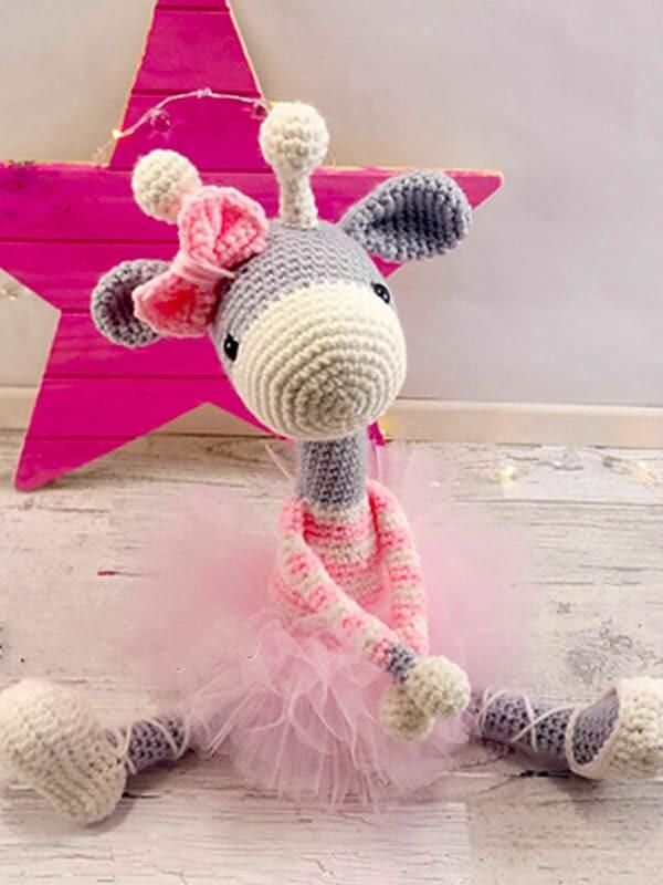 ballerina, giraffe, amigurumi, crochet, pattern, christmas, baby, baby shower, gift, noel, head, legs