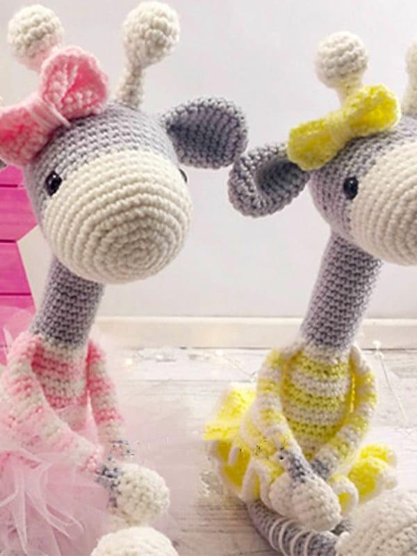 ballerina, giraffe, amigurumi, crochet, pattern, christmas, baby, baby shower, gift, noel, horns, arms