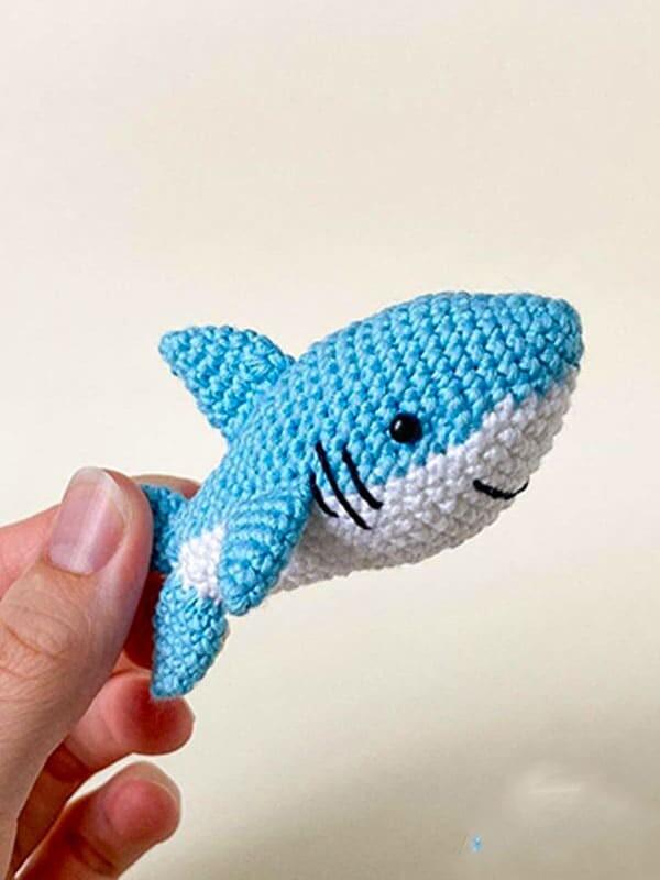 cute, baby, shark, amigurumi, gift, sea, beach, summer, fish, tail