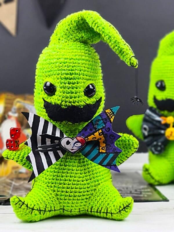 green, gosht, amigurumi, pattern, crochet, oogie boogie, noel, christmas, xmas, merry christmas, body