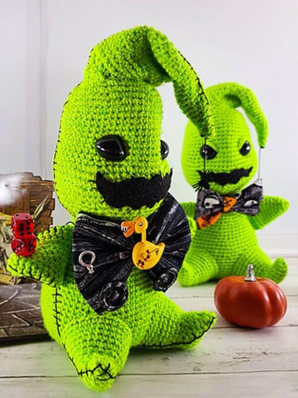 green, gosht, amigurumi, pattern, crochet, oogie boogie, noel, christmas, xmas, merry christmas, legs