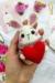 Conejito con un Corazón PDF Amigurumi Patrón Gratis