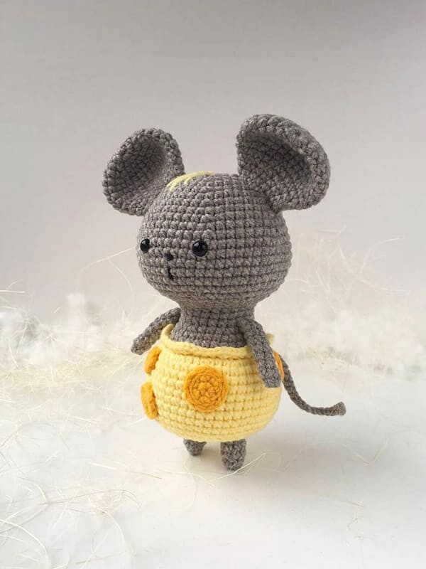 mouse, cheese, pants, amigurumi, crochet, cute, noel, christmas, halloween, arms, tail