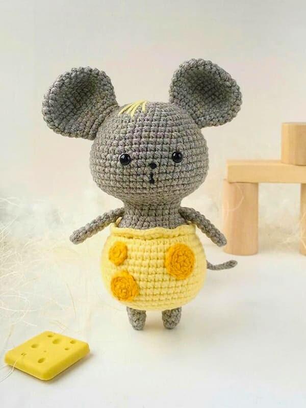 mouse, cheese, pants, amigurumi, crochet, cute, noel, christmas, halloween, eye, ears, tail