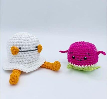 Oatley the Funny Ghost Amigurumi Crochet Pattern