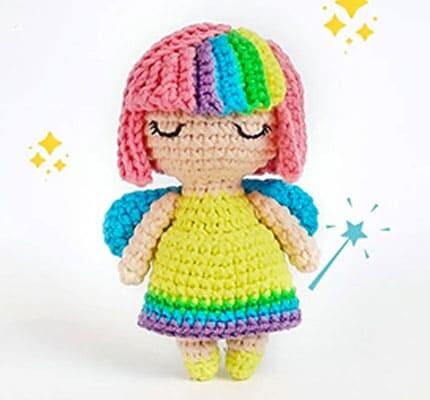 Rainbow Fairy Amigurumi Crochet Pattern