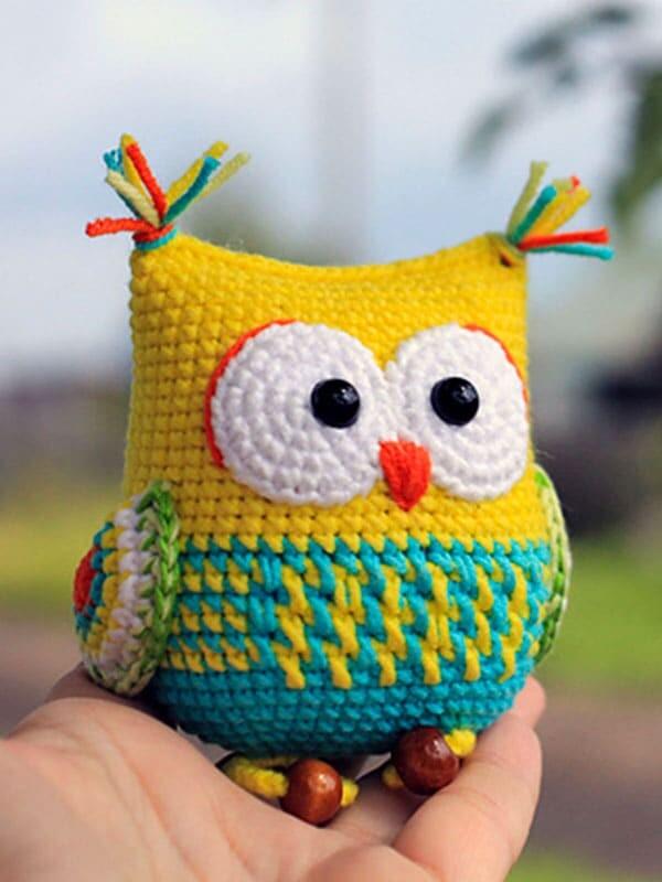 the, owl, rattle, amigurumi, crochet, pattern, gift, bird, summer, nose, head