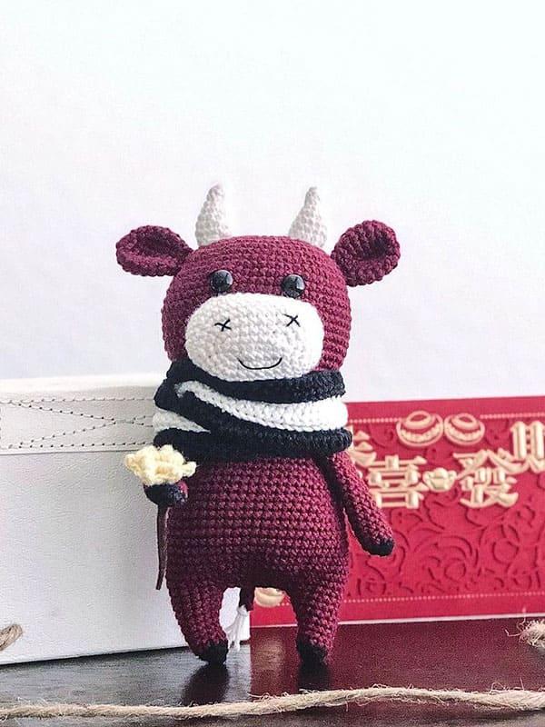 willy, bull, cute, winter, christmas, head, body
