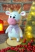 willy, bull, cute, winter, christmas, horns