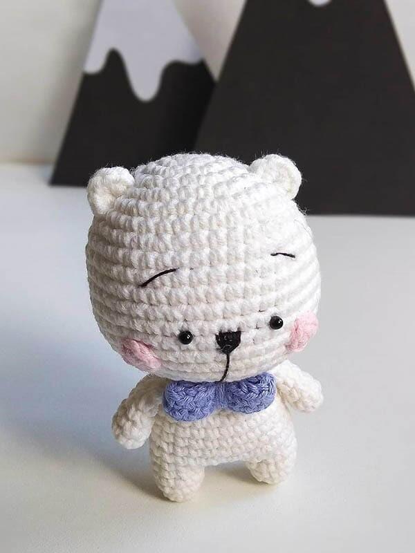 crochet bear pattern, sweetest polar bear amigurumi pattern