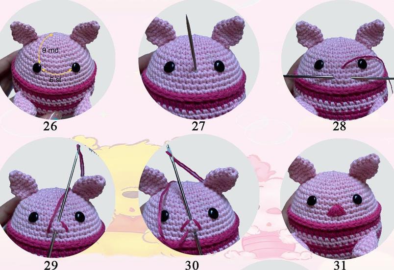Piglet Amigurumi Crochet Pattern