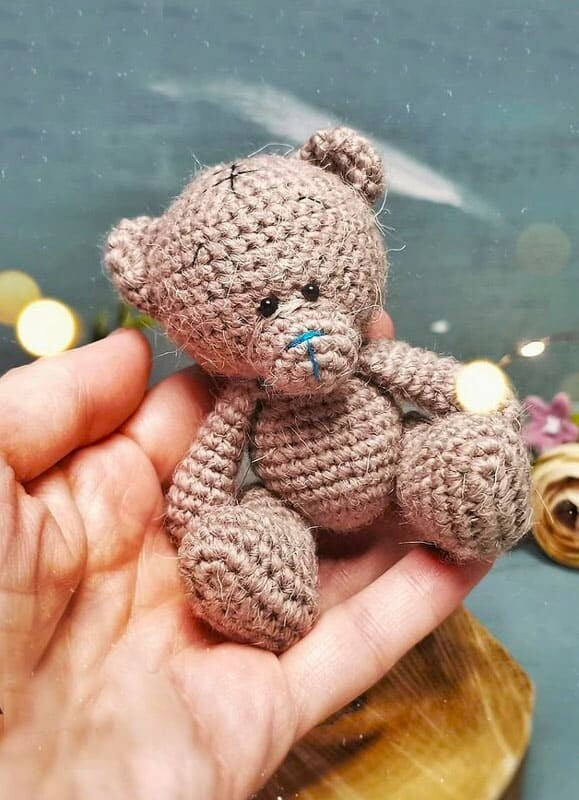 Crochet Bear Keychain Amigurumi Free Pattern