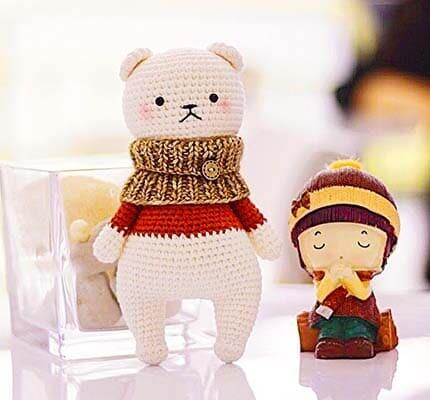 Crochet Cute Little Bear Amigurumi Free Pattern