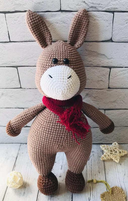 Crochet Donkey Amigurumi Free Pattern (2)
