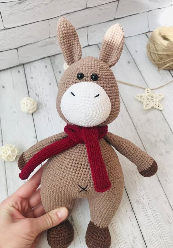 Crochet Donkey Amigurumi Free Pattern (3)