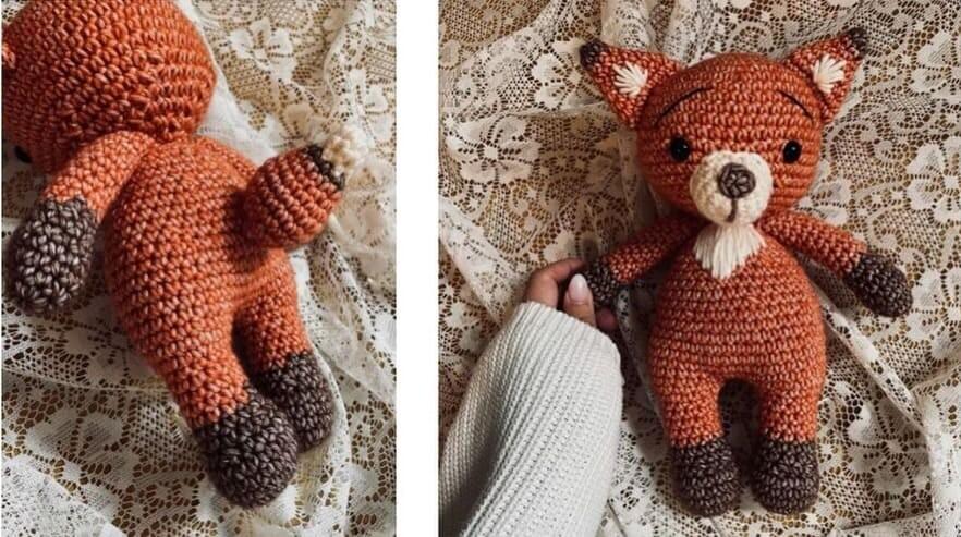 Crochet Fiona the Fox Amigurumi Free Pattern fox assembly