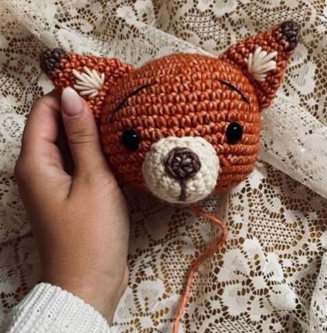 Crochet Fiona the Fox Amigurumi Free Pattern fox head