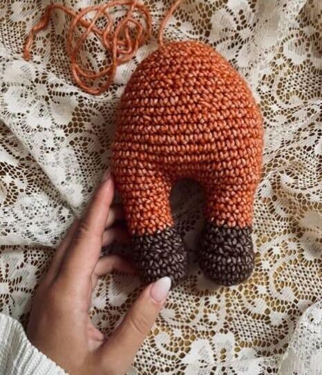 Crochet Fiona the Fox Amigurumi Free Pattern fox leg sand body