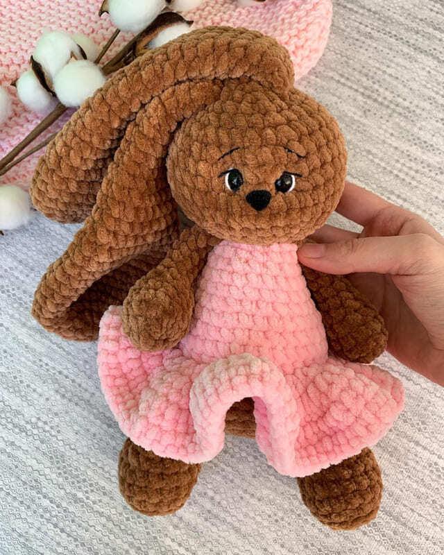 Crochet Plush Bunny Mila Amigurumi Free Pattern (1)