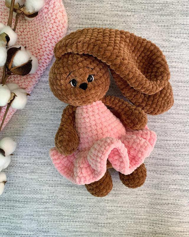 Crochet Plush Bunny Mila Amigurumi Free Pattern (2)
