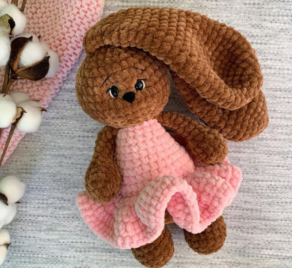 Crochet Plush Bunny Mila Amigurumi Free Pattern (3)
