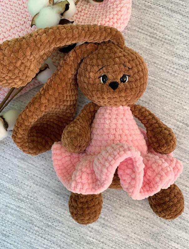 Crochet Plush Bunny Mila Amigurumi Free Pattern (5)