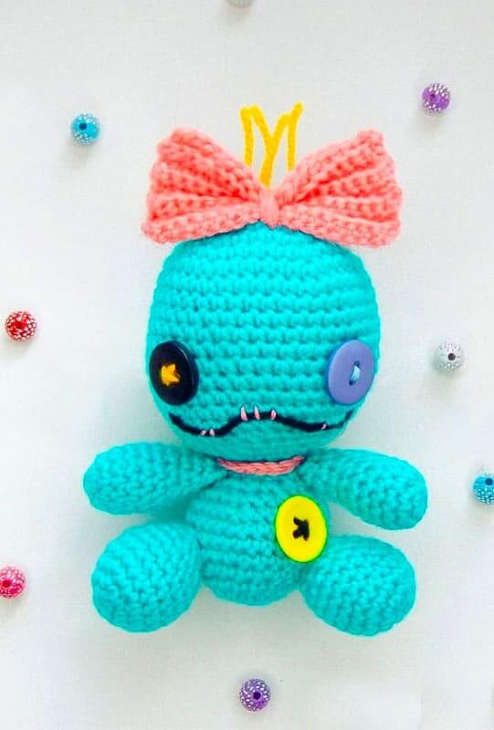 Crochet Stitch Keychain Amigurumi Free Pattern (2)