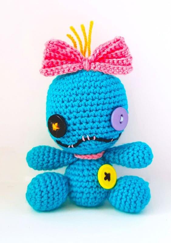 Crochet Stitch Keychain Amigurumi Free Pattern (3)