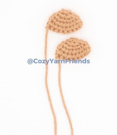 Crochet Teddy Bear Amigurumi Free Pattern ears