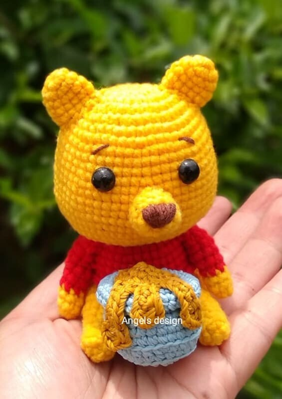 Crochet Winnie the pooh Amigurumi Pattern (2)